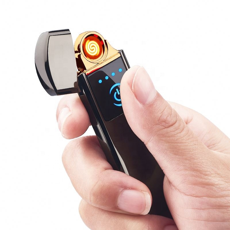 FOCUS Electric Lighter Dual Arc Metal Flameless USB Rechargeable Windproof Double cigarette cigar Lighters