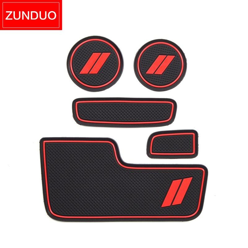 cheapest ZUNDUO Anti-Slip Cup Holder Mat for Dodge Durango 2014 2015 2016 2017 2018 2019 2020 Accessories Rubber Coaster Non-slip Mat pad