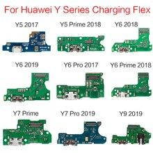 5ชิ้น/ล็อตUSB Charging Dockแจ็คปลั๊กSocketพอร์ตเชื่อมต่อFlex CablสำหรับHuaWei Y5 Y6 Y7 Y9 Prime 2017 2018 2019