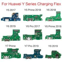 5pcs/lot USB Charging Dock Jack Plug Socket Port Connector Charger Flex Cabl For HuaWei Y5 Y6 Y7 Y9 Prime 2017 2018 2019