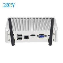 XCY 8*USB Fanless Mini PC Windows 10 7 Core i7 4500U i3 4005U i5 5300U 4200Y DDR3L WiFi HDMI minipc Computer HD Graphics Nettop