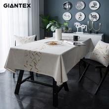 GIANTEX דקורטיבי שולחן בד מפת שולחן מלבני מפות שולחן אוכל כיסוי Obrus Tafelkleed מנטל mesa סילון U2249