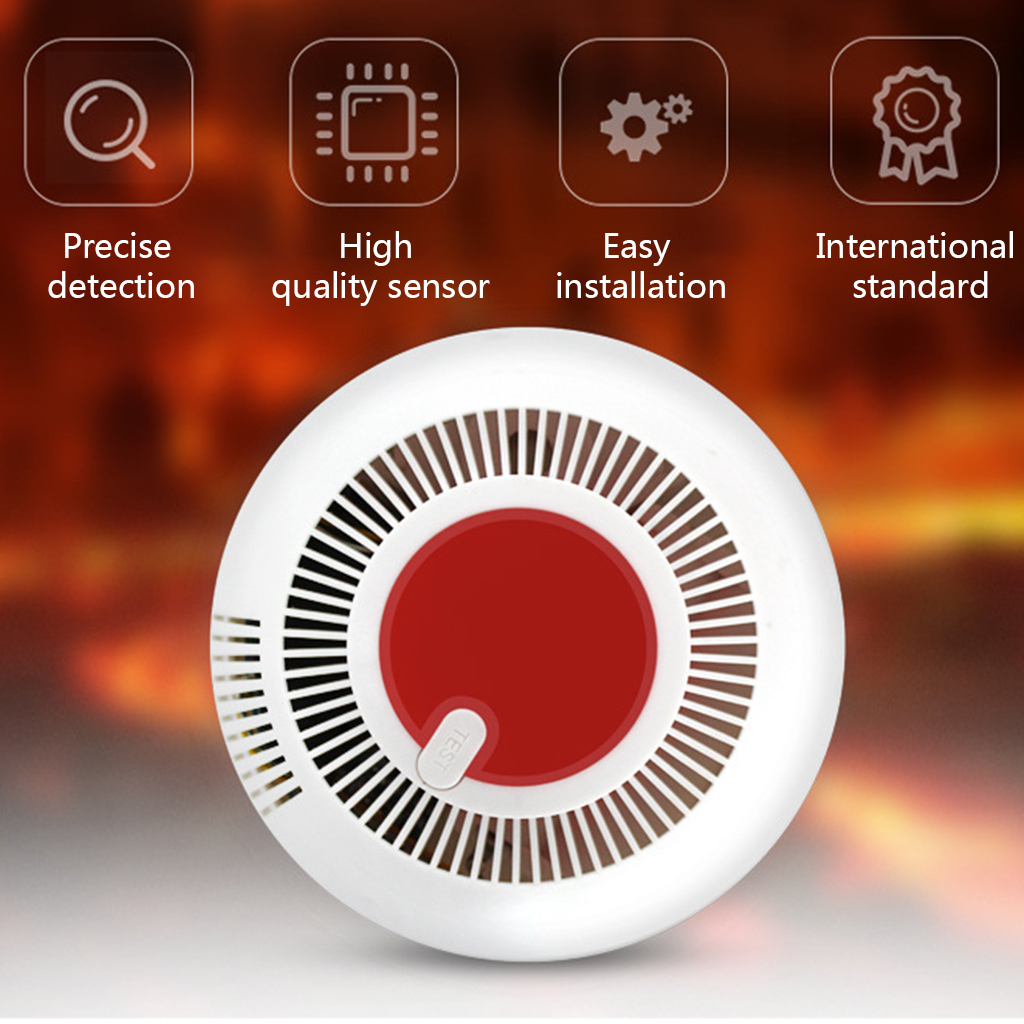Independent Smoke Fire Alarm Home Security Wireless Smoke Detector Alarm O26 19 Dropship