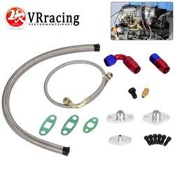 VR - Oil Feed Line Drain Fitting Flange Kit For Toyota Supra 1JZGTE 2JZGTE 1JZ/2JZ Single Turbo VR-TOL22