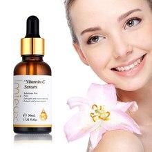 Vitamina c facial cuidados com a pele essência branquear hidratante rosto cuidados com a pele soro refrescante anti-envelhecimento rosto essencial óleo 30ml