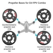 Para dji fpv combo hélice bases hélice suporte placa de montagem base 2cw + 2ccw drones peças reposição acessórios