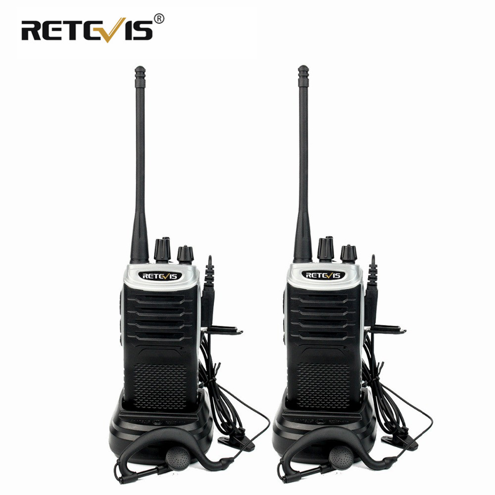 Retevis RT7 Walkie Talkie 2pcs 5W Walkie-Talkie FM Radio(88-105MHz) VOX Portable Radio Stations UHF Transceiver USB Charger
