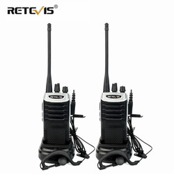 Retevis RT7 Walkie Talkie 2pcs 5W Walkie-Talkie FM Radio(88-105MHz) VOX Portable Radio stations UHF Transceiver USB Charger
