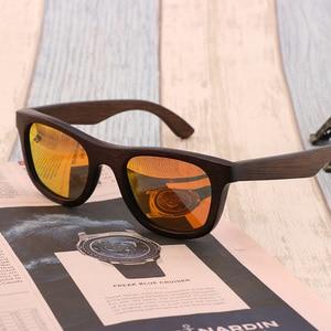 Image 2 - 최고의 수제 럭셔리 선글라스 남자 편광 된 얼룩말 빈티지 대나무 나무 여성 선글라스 안경 케이스 상자와 높은 품질
