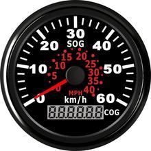 Универсальный GPS Спидометр с красным Подсветка для мото Авто Грузовик морской катер 60 км/ч Водонепроницаемый 85 мм одометр датчик 12V/24V