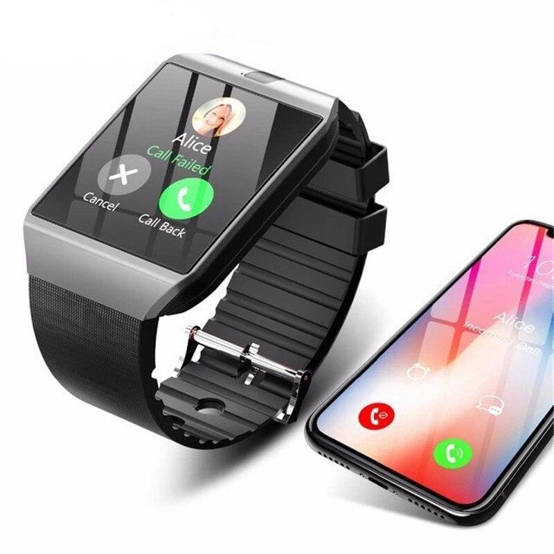 Умные часы DZ09 с камерой Sim TFCard Bluetooth Смарт часы для мужчин и женщин фитнес трекер для Android IOS Huawei Xiaomi телефон часы|Смарт-часы| | АлиЭкспресс