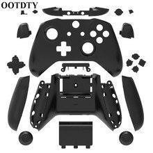 Coque OOTDTY pour Xbox One mince remplacement coque complète et boutons Mod Kit couverture mate