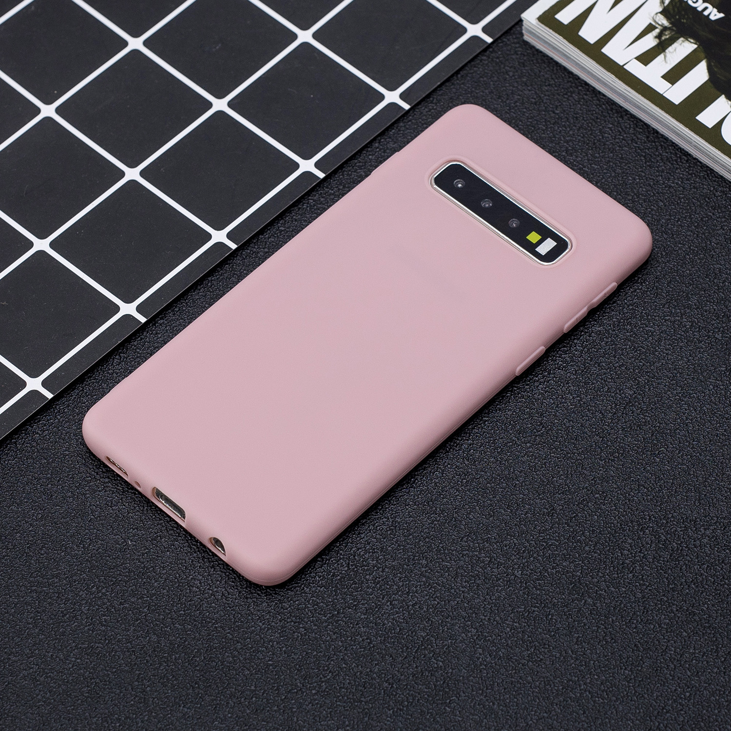 FLYKYLIN Candy Color Case For Samsung Galaxy S10 Plus S10e S9 S8 Back Cover on Note 8 9 10 Soft Silicone Wrist Strap Phone Coque in Fitted Cases from Cellphones Telecommunications