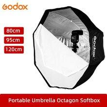 Godox 80cm 95cm 120cm octógono portátil Softbox paraguas Reflector estudio luz estroboscópica Flash
