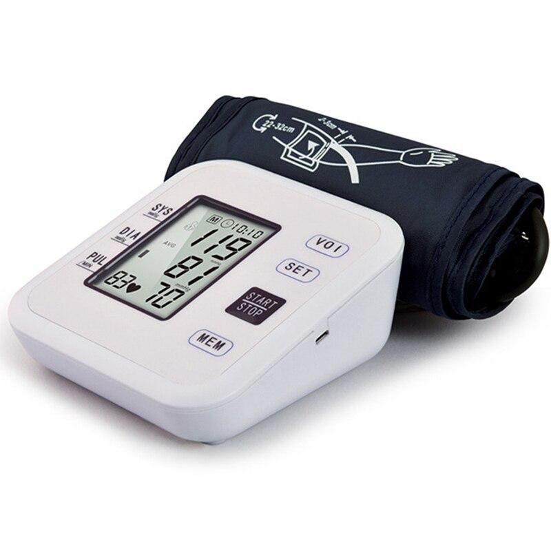 Cyfrowy ciśnieniomierz tonometr sprzęt medyczny LCD aparatura do pomiaru ciśnienia maszyna mierząca rytm serca