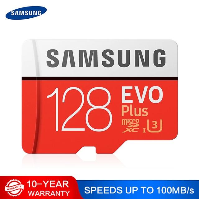 삼성 메모리 카드 마이크로 SD 256 기가 바이트 32 기가 바이트 64 기가 바이트 128 기가 바이트 512G SDHC SDXC 학년 EVOplus 클래스 10 C10 UHS TF SD 카드 트랜스 플래시 Microsd