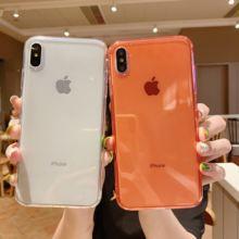 Чехол для iphone 11 pro xs max 6 6s 7 8 plus однотонный прозрачный