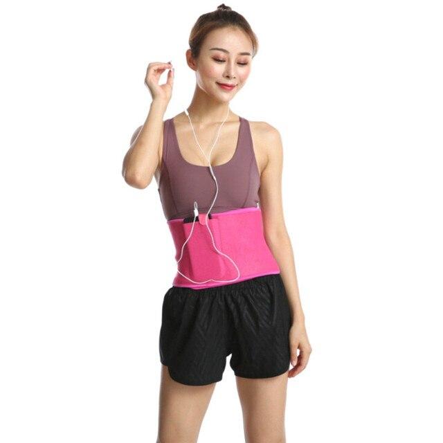 Women Adjustable Elastic Waist Support Belt Buna Lumbar Back Sweat Belt Slimming Fitness Belt Waist Trainer for Running Yoga 1