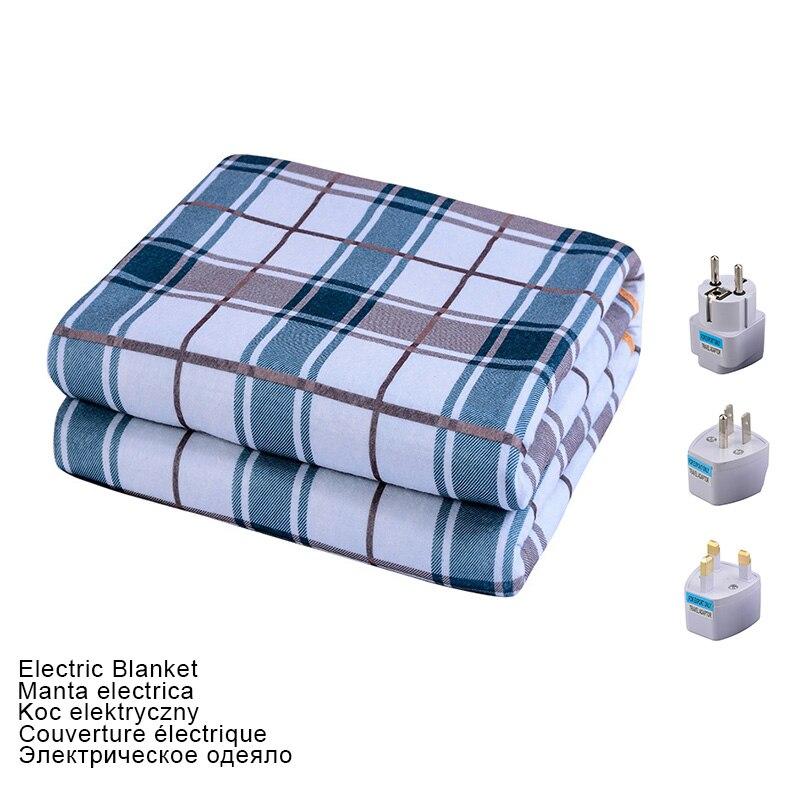 Электрическое одеяло 220 В, более плотный обогреватель с двойным корпусом, 180*150 см, одеяло с подогревом, матрас, термостат, одеяло с электрическим подогревом Электроодеяла      АлиЭкспресс