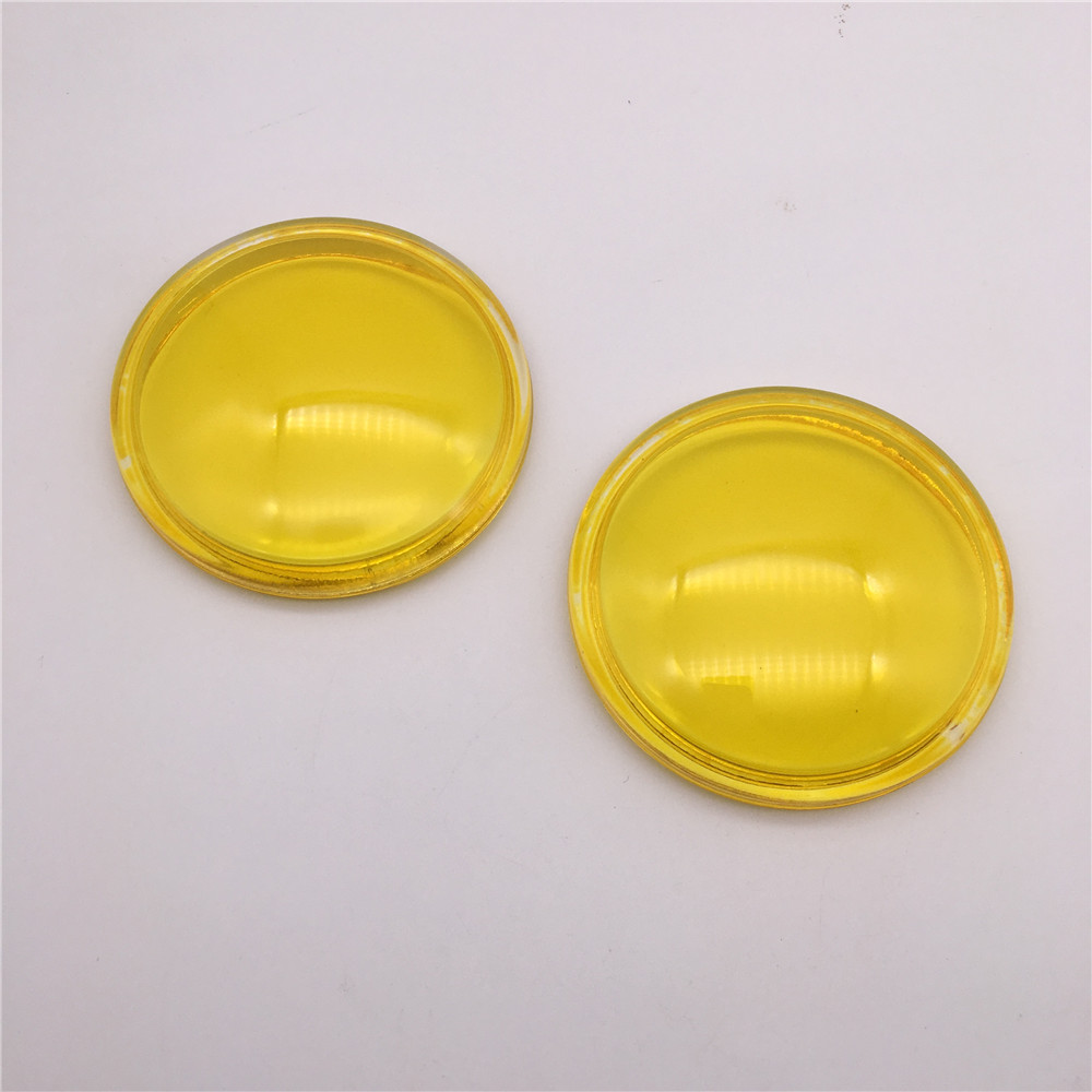 2pcs/lot yellow 90mm Front Fog Lamp Light Tempered Glass For <font><b>Peugeot</b></font> 207 208 301 307 407 <font><b>607</b></font> 3008 image
