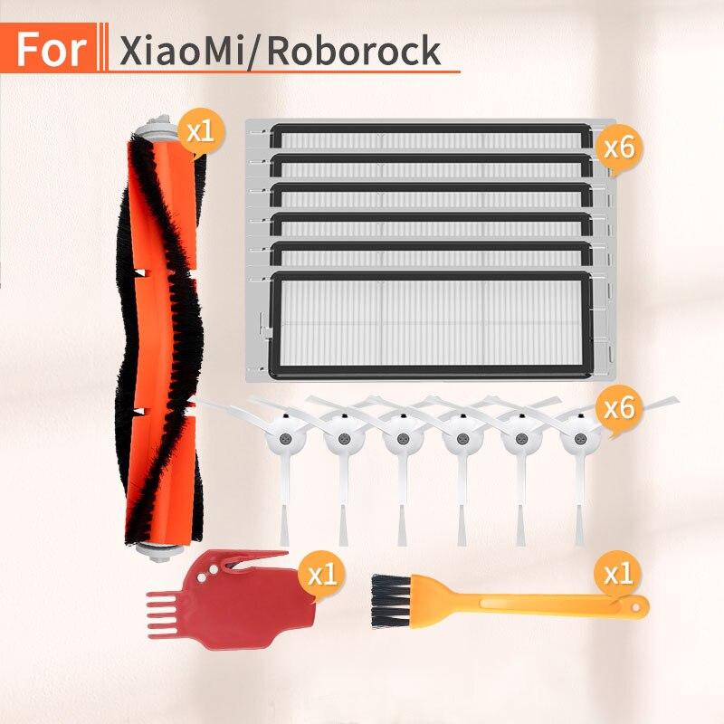 Robot Vacuum Cleaner Main Brush HEPA Filter Accessories For XIAOMI 1/2 Roborock S50 S51 S6 S55 Vacuum Cleaner Parts