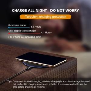 Image 5 - Qi Wireless CHARGING Pad Station สำหรับ iPhone XR XS SE 2020 11 PRO MAX Samsung Note 10 S10 S9 15W Slim Fast การชาร์จ
