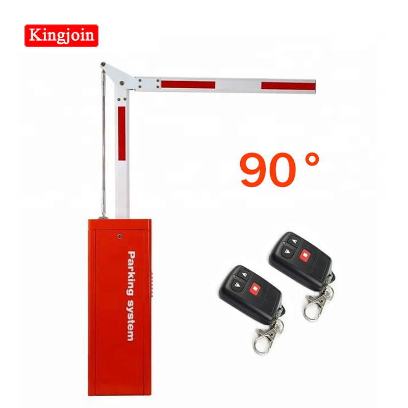 90 Degree Folding Aluminum Barrier Door Remote Control Door  3s / 6s Parking Barrier Door For Controlling Access System