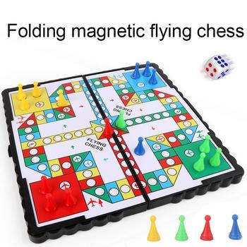 Mini estera de arrastre plegable magnética de ajedrez volador juego de mesa...
