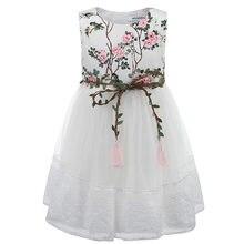 Robe d'été pour filles, vêtements princesse brodés, à la mode