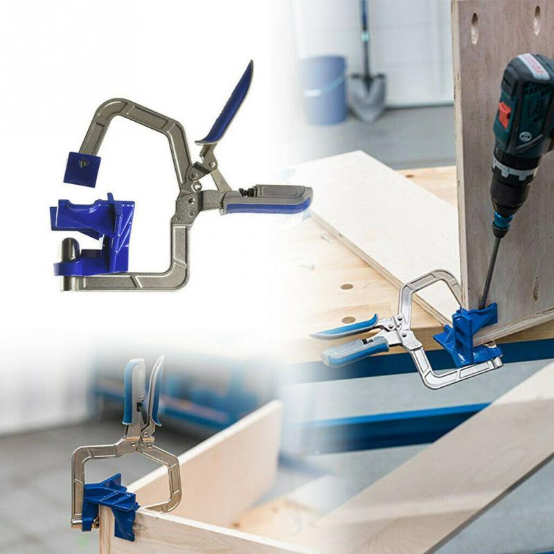 Hot Miter Jigs Woodworking Multifunctional <font><b>Corner</b></font> <font><b>Clamp</b></font> Tool T Joints <font><b>KHCCC</b></font> <font><b>90</b></font> Degrees For <font><b>Kreg</b></font> Jigs image
