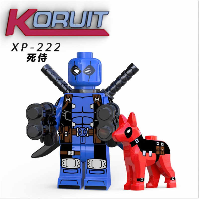 スーパーヒーロー赤色デッドプール犬 LEGOEINGLYS MINIFIGURED DC ビルディングブロックレンガフィギュアモデルキッズギフト