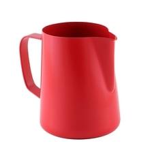 400 мл тефлоновая кружка из нержавеющей стали с цветным наконечником, модная кофейная кастрюля, кофейная посуда