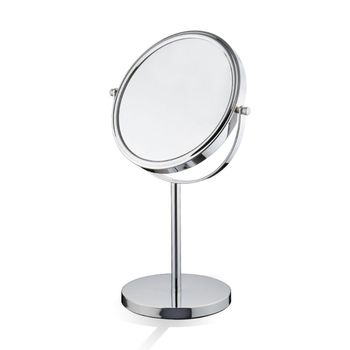 Table Top 3x Makeup Mirror Double Side Cosmetic Magnification Mirrors for Bathroom or Bedroom bath mirror cosmetic mirror 1x 3x magnification suction cup adjustable makeup mirror double sided bathroom mirror