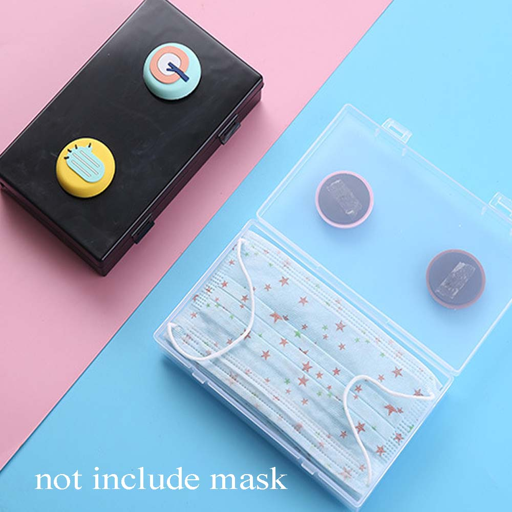 Portable Dustproof Buckle Mask Storage Seal Box Case Portable Disposable Face Masks Container Safe Pollution-Free Mask Organizer