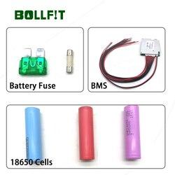 Bollfit bezpiecznik akumulatora akcesoria akumulatorowe części do montażu rowerów elektrycznych BMS 18650 ogniw