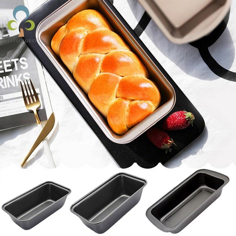 Bakeware não-vara pão pan aço carbono pan torrada queijo pastelaria molde assado retangular bolo torrada pão molde ferramentas de cozimento zxh