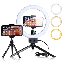 9 אינץ מיני LED וידאו Selfie טבעת אור עם חצובה טבעת מנורות עבור YouTube טלפון לחיות תמונה צילום סטודיו Ringlight