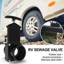 Flow RV-válvula de entrada de agua para caravana, manguera de drenaje de plástico de flujo duradero de 50mm, accesorios exteriores para el hogar