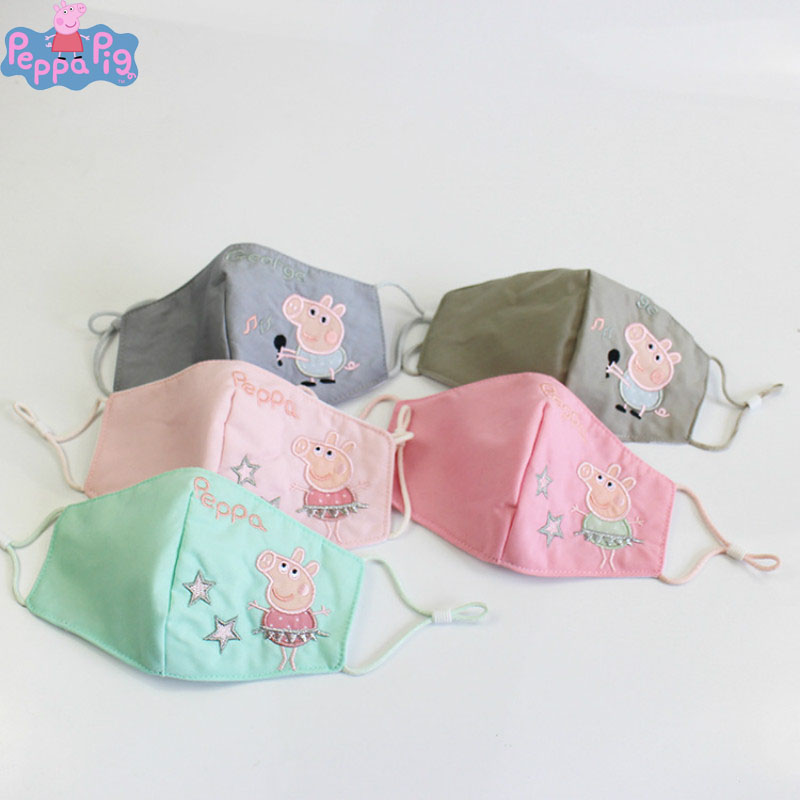 Peppa Pig Kids Cartoon Print Anti-Dust Mask Lovely Reusable Breathable Washable Easy To Breathe Mouth Mask