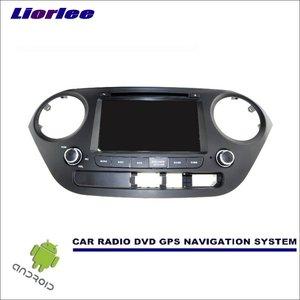 Liorlee Car Android Navigation System For Hyundai Grand i10 i10 2013-2016 Radio Stereo CD DVD Player GPS Navi Screen Multimedia