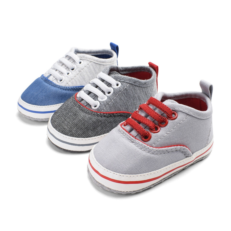 2Pairs Classic Casual Canvas Baby Shoes Newborn Sports Sneakers Baby Boys First Walkers Kid Booties Children Moccasins Prewalker