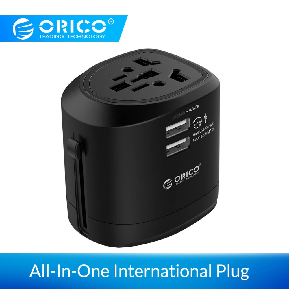ORICO Alle-In-One International Stecker Adapter Universal Travel Adapter <font><b>Usb</b></font> Ladegerät Buchse Wand Ladegerät Für EU UNS UK AU Stecker image