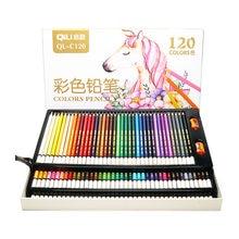 Crayons de couleur professionnels 120 couleurs, boîte en bois, ensemble de crayons de couleur à l'huile pour dessin, croquis, livres de coloriage, cadeaux, fournitures artistiques