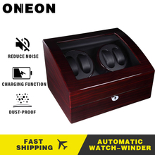 ONEON High Quality Watch Winder Open Motor Stop Luxury Automatic Watch Display Box Winders 4+6 And 2+0 Wood Paint Box Winder