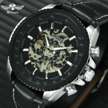 WINNER Official Automatic Watch Men Military Skeleton Mechan