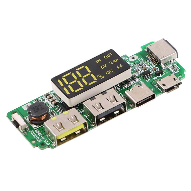 1 pcs USB 2.4A Mobile Power Bank Charging Module Lithium Battery Charger Board Electrical Supplies Mobile Power Supply Module