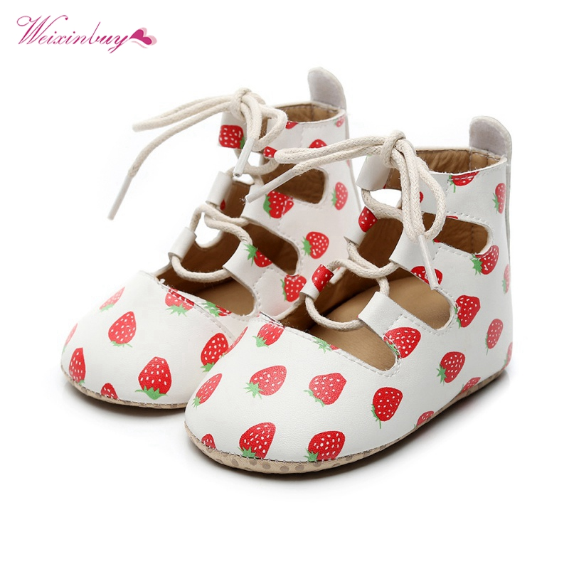 2020 Infant Baby Girl PU Leather Roman Shoes Hollow Princess Soft Soled Sneakers Summer Baby Sandals