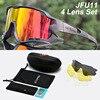 Acexpnm polarizado mountain bike ciclismo óculos de ciclismo esportes ao ar livre óculos uv400 4 lente ciclismo óculos de sol das mulheres dos homens 19