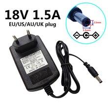 18 V 1.5A Universele Voeding Muur Adapter Ac 100 240V Naar Dc 18 Volt 1500mA Converter 5.5*2.5Mm 5.5*2.1Mm Us/Eu/Uk/Au Plug