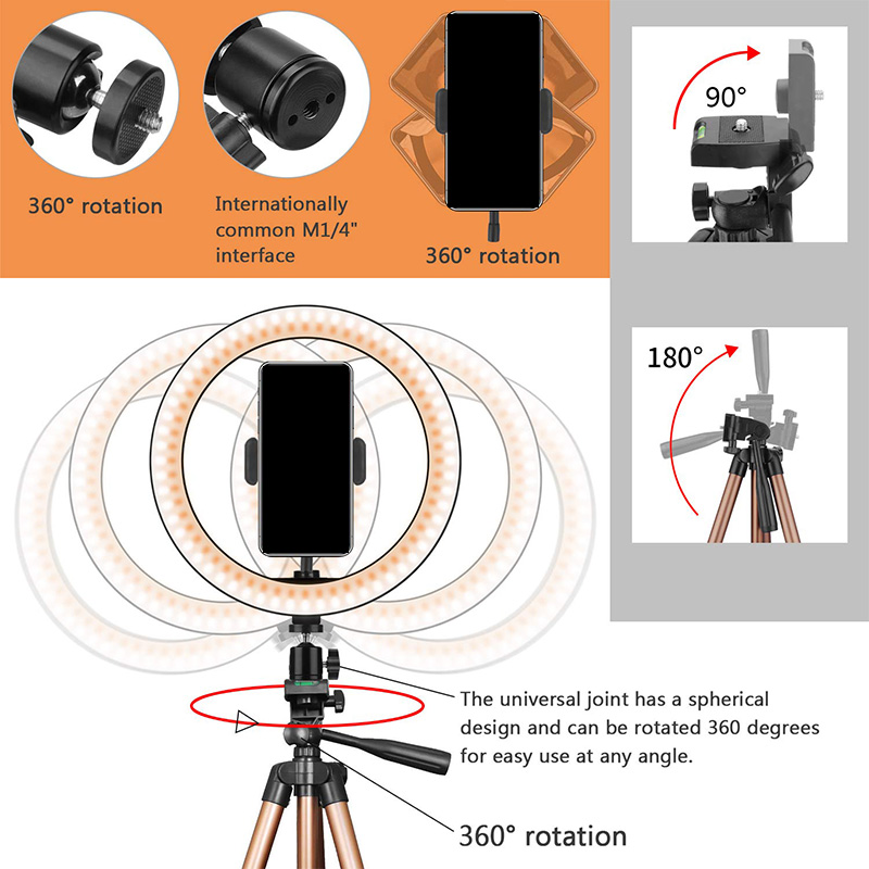 10-инчова светлина за селфи пръстен с - Камера и снимка - Снимка 4